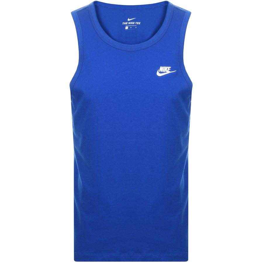 Nike Club Logo Vest T Shirt Blue
