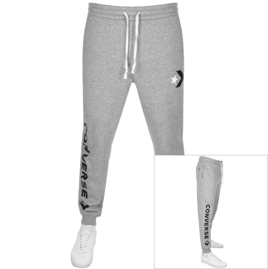 d84d083482f3 Product Image for Converse Star Chevron Logo Jogging Bottoms Grey