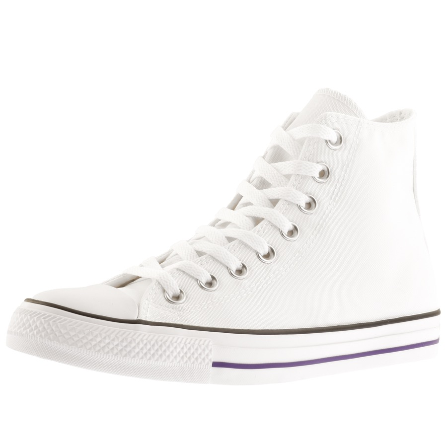 5c58e0dac135 Product Image for Converse All Star Hi Top Check Trainers White