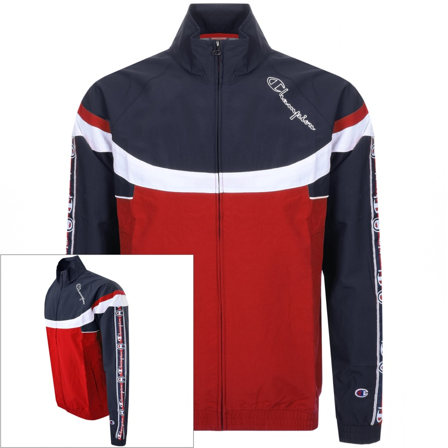 Champion Full Zip Logo Jacket Red
