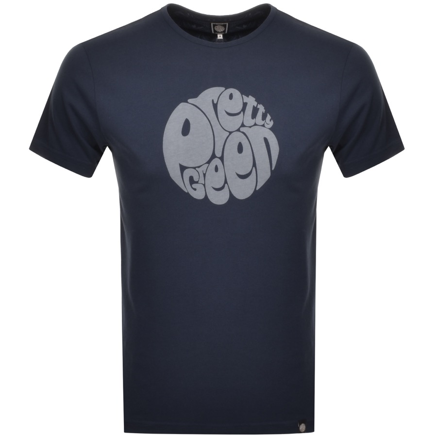 Main Product Image for Pretty Green Gillespie Logo T Shirt Navy