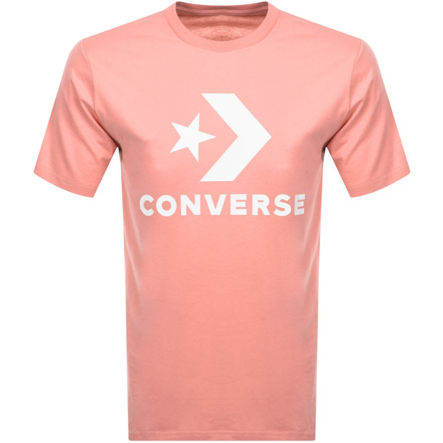 700eedd0e956 Product Image for Converse Star Chevron Logo T Shirt Pink