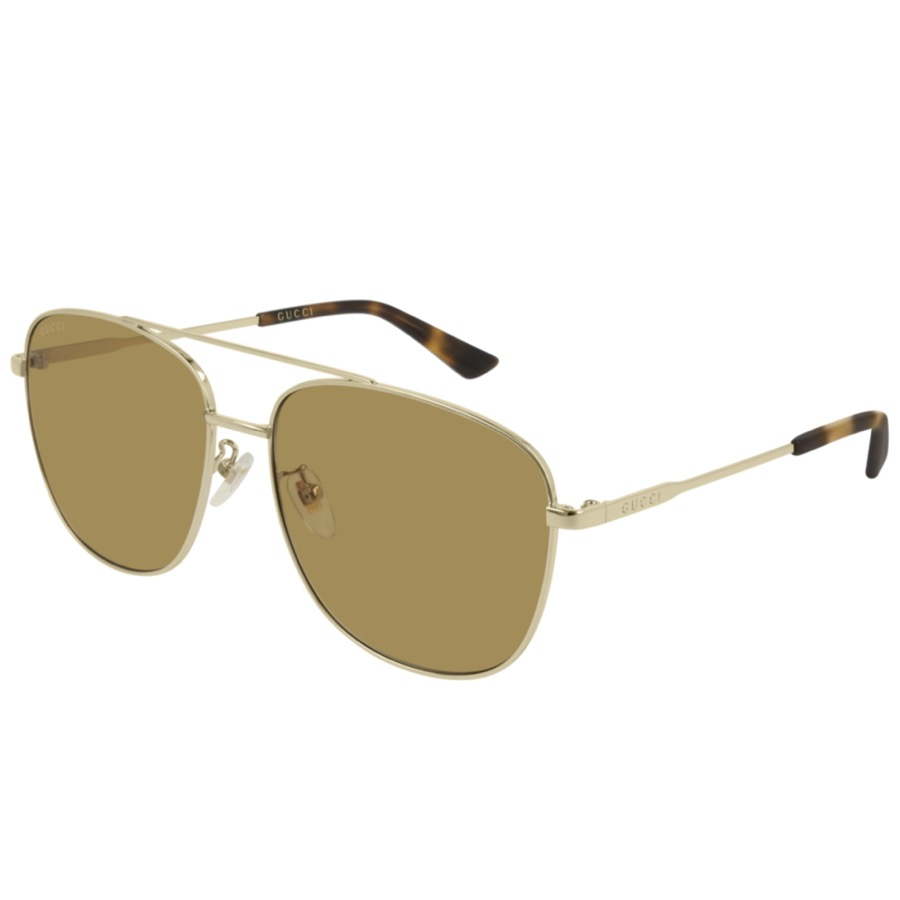 Gucci GG0410SK 004 Aviator Sunglasses Gold