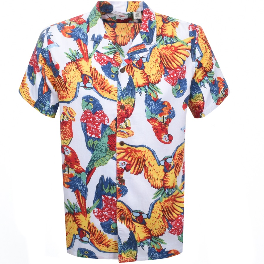 Main Product Image for Levis Short Sleeved Cubano Parrot Shirt White