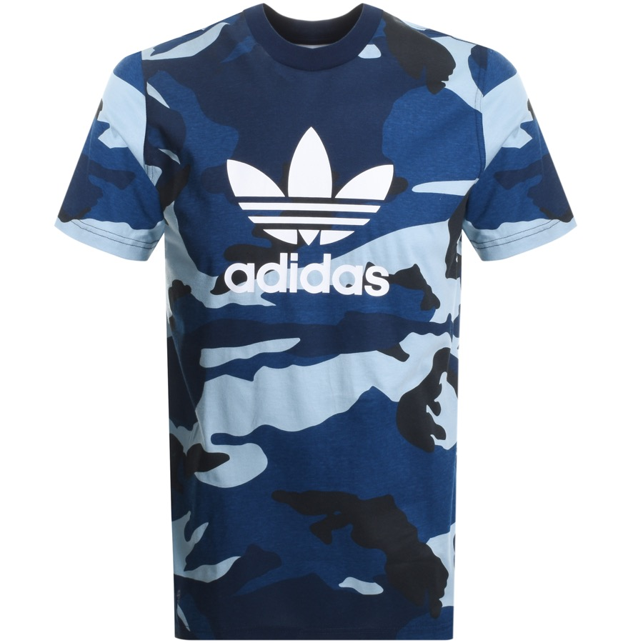 Main Product Image for adidas Originals Camo Trefoil T Shirt Navy