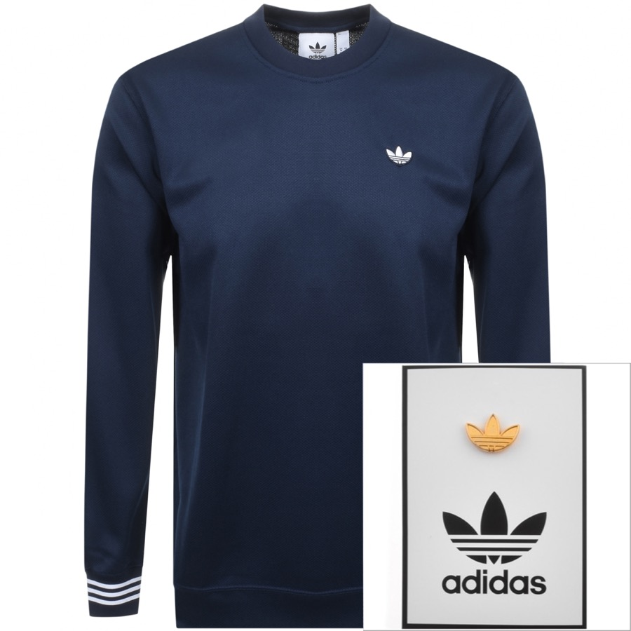 Main Product Image for adidas Originals Pique Sweatshirt Navy