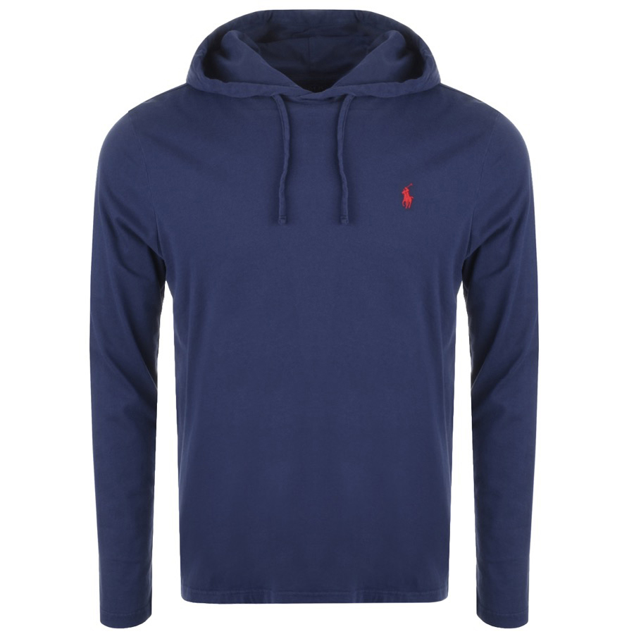 Main Product Image for Ralph Lauren Long Sleeved Hooded T Shirt Navy