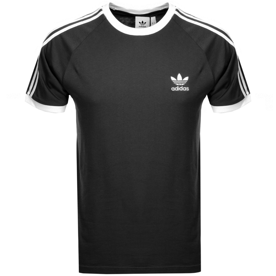 076591eb Product Image for adidas Originals California 3 Stripe T Shirt Black