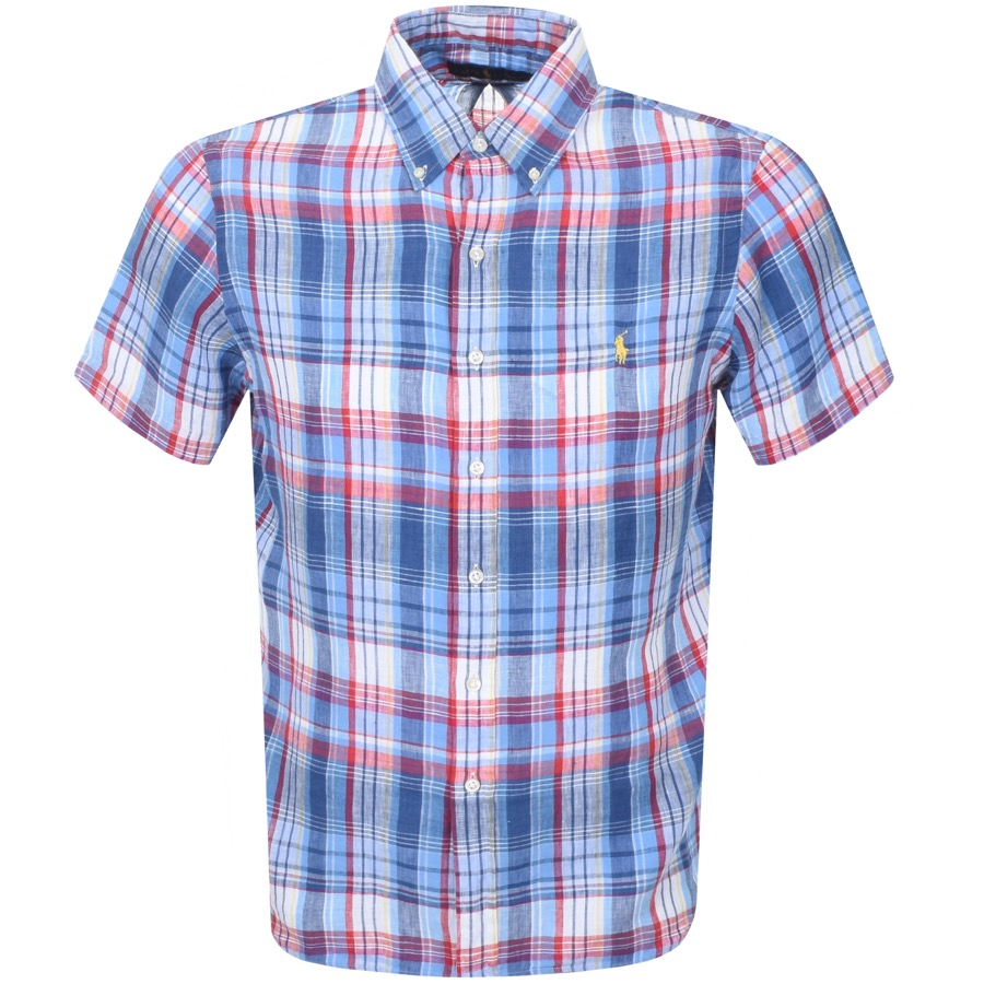 Main Product Image for Ralph Lauren Short Sleeved Check Shirt Blue