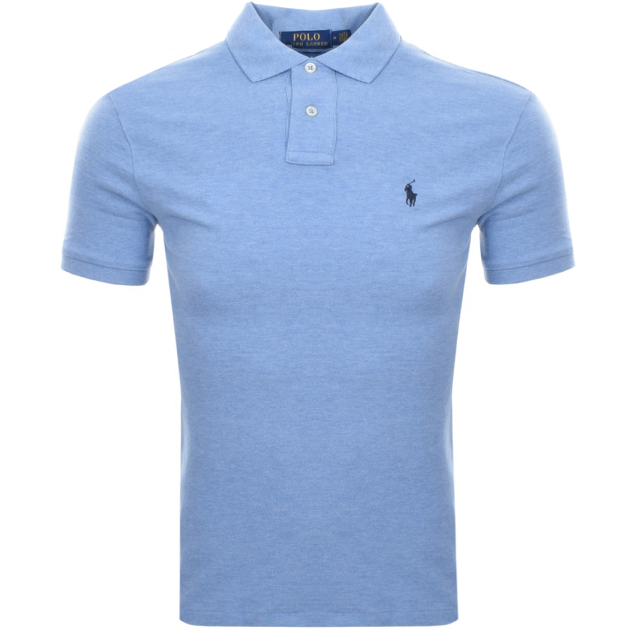 6927a934 Product Image for Ralph Lauren Slim Fit Polo T Shirt Blue