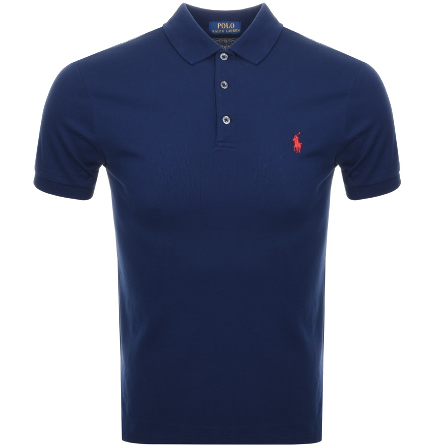 9a0df047 Free Delivery. Return. Product Image for Ralph Lauren Slim Fit Polo T Shirt  Navy