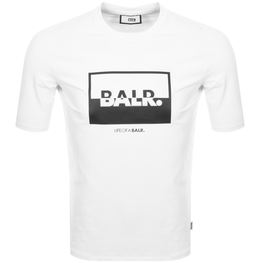 Main Product Image for BALR Contrasting Logo T Shirt White