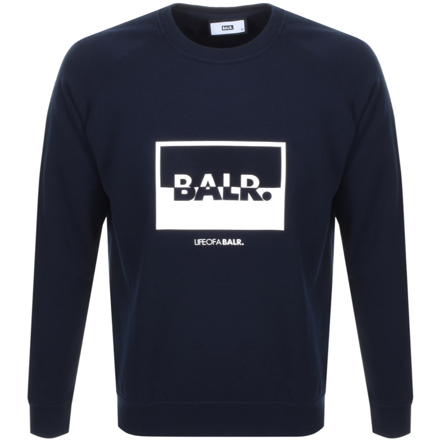 Main Product Image for BALR Contrasting Logo Sweatshirt Navy