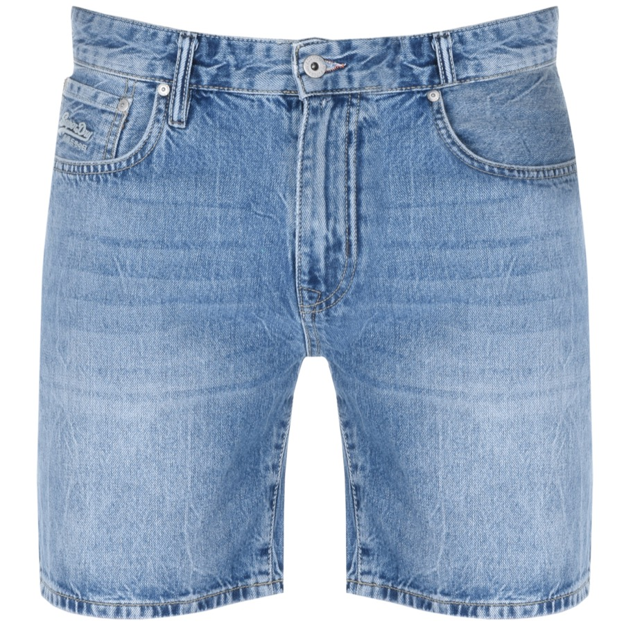 Superdry Denim Connor Taper Shorts Blue