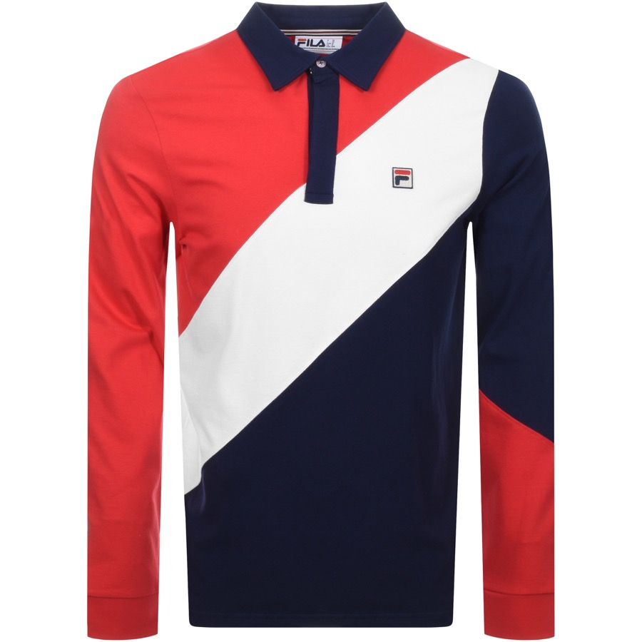 fc352857771 Product Image for Fila Vintage Long Sleeved Mazen Rugby Polo Navy