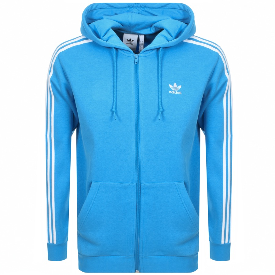 Main Product Image for adidas Originals 3 Stripes Full Zip Hoodie Blue