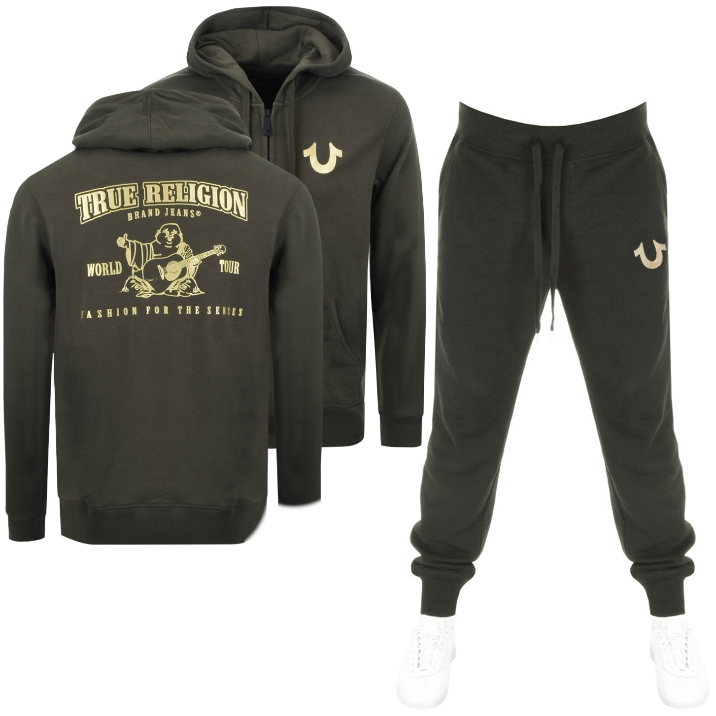 Main Product Image for True Religion Double Puff Tracksuit Green