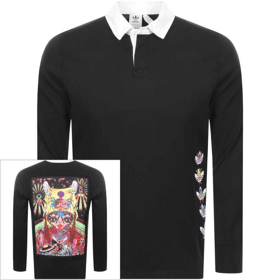 Main Product Image for adidas Originals X Tanaami Rugby Shirt Black