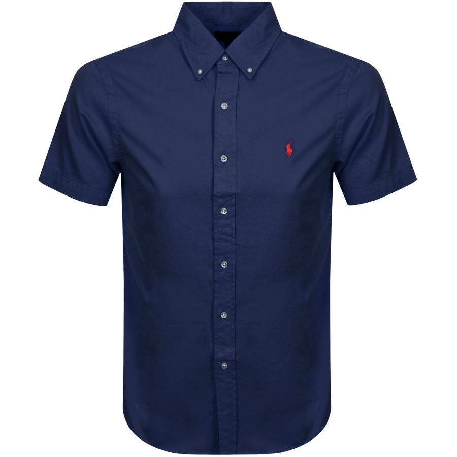 Ralph Lauren Short Sleeved Slim Fit Shirt Navy
