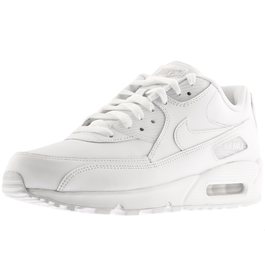 timeless design 455e1 cd86c Nike Air Max 90 Leather Trainers White | Mainline Menswear