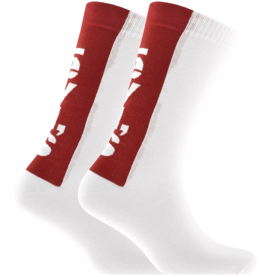 Levis 2 Pack Comfort 168SF Socks White