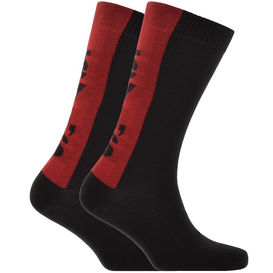 Levis 2 Pack Comfort 168SF Socks Black