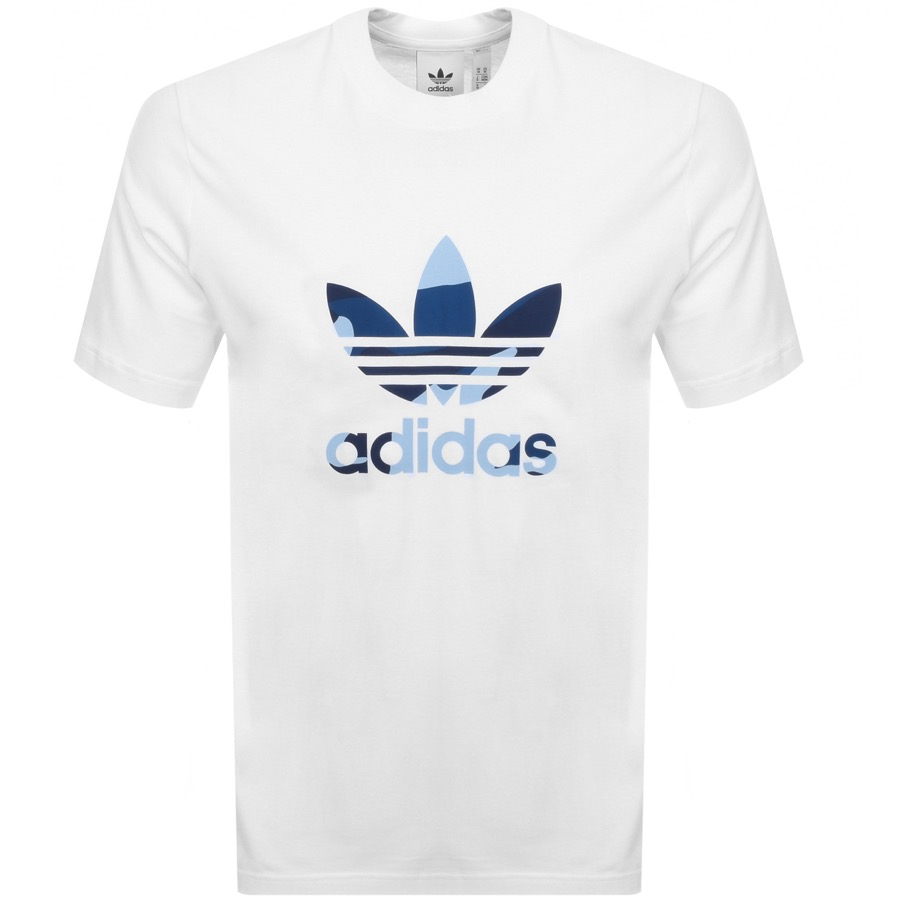 Main Product Image for adidas Originals Camo Infill T Shirt White
