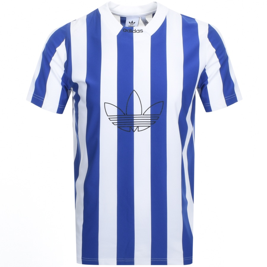 Main Product Image for Adidas Originals Stripe Jersey T Shirt Blue