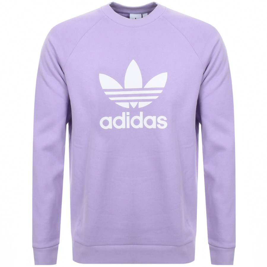 40794ff8feefd Alternative Image for ProductAdidas Originals Trefoil Crew Sweatshirt  Purple1 ...