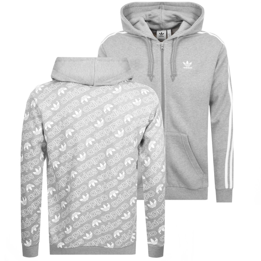 Main Product Image for adidas Originals Monogram Full Zip Hoodie Grey