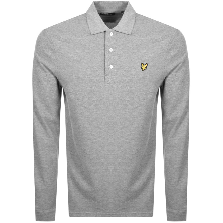 Main Product Image for Lyle And Scott Long Sleeved Polo T Shirt Grey