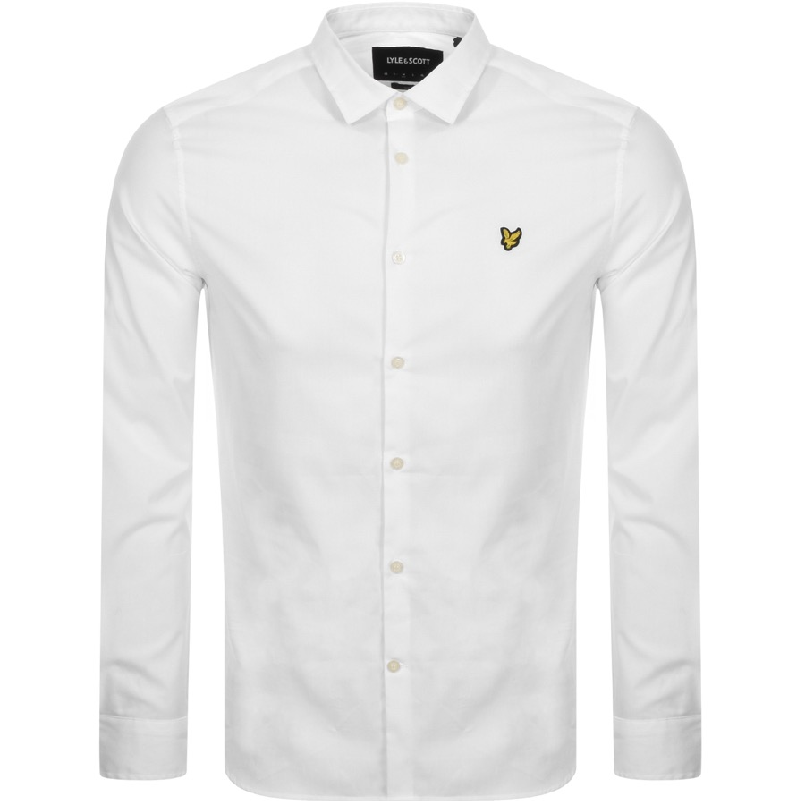 Main Product Image for Lyle And Scott Long Sleeve Poplin Shirt White