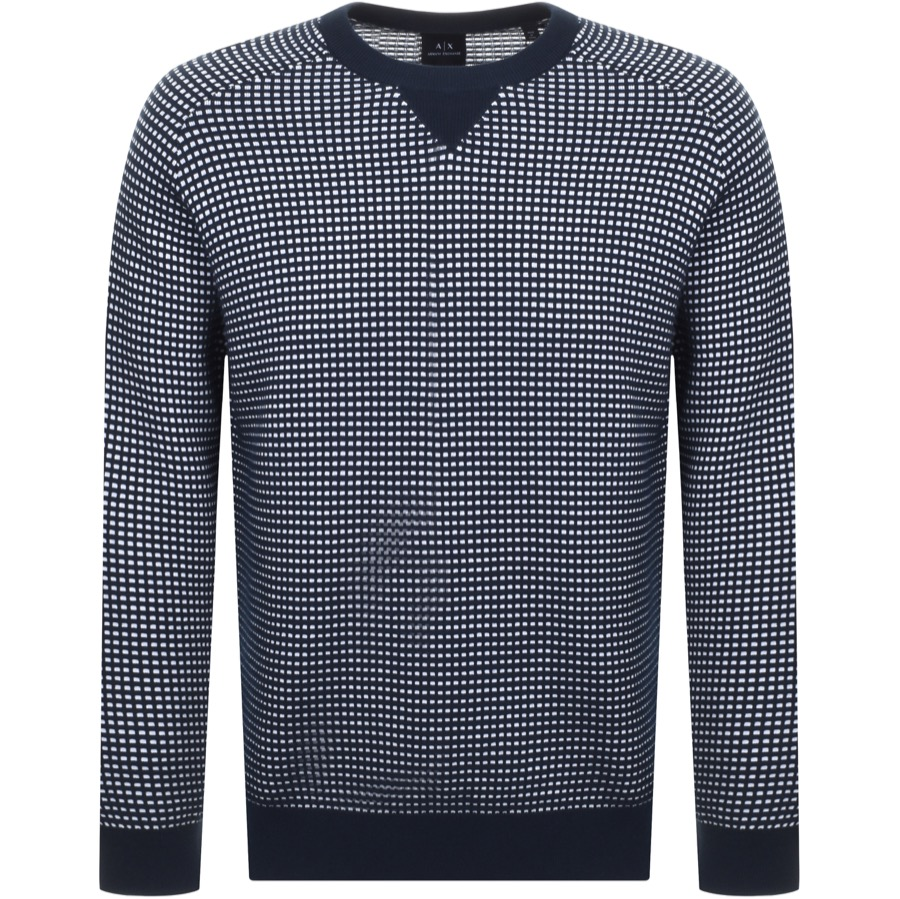 Main Product Image for Armani Exchange Crew Neck Knit Jumper Navy