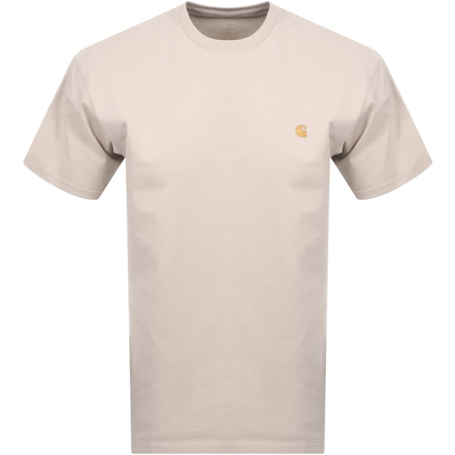 Carhartt Chase Short Sleeved T Shirt Beige