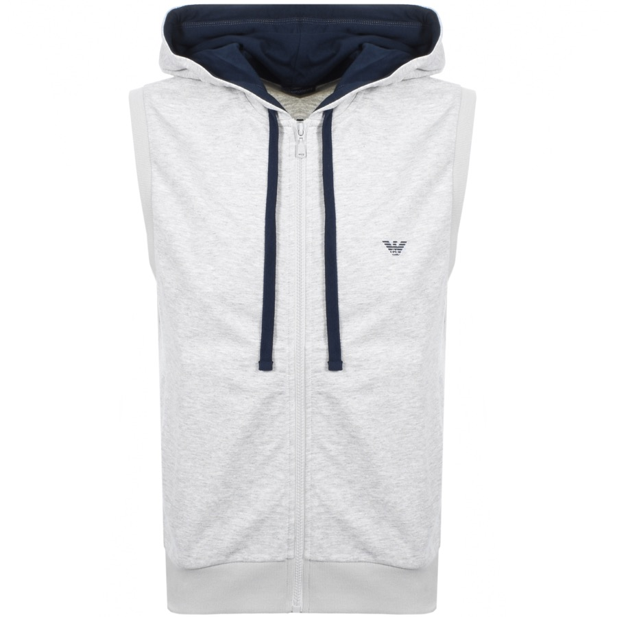 Main Product Image for Emporio Armani Full Zip Sleeveless Hoodie Grey
