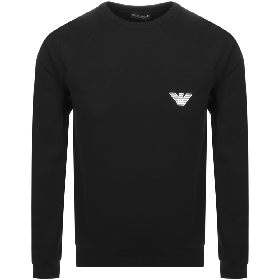 Main Product Image for Emporio Armani Crew Neck Logo Sweatshirt Black