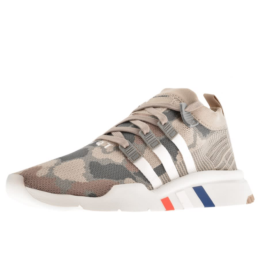 Adidas Originals EQT Prime Knit Trainers Khaki | Mainline Menswear