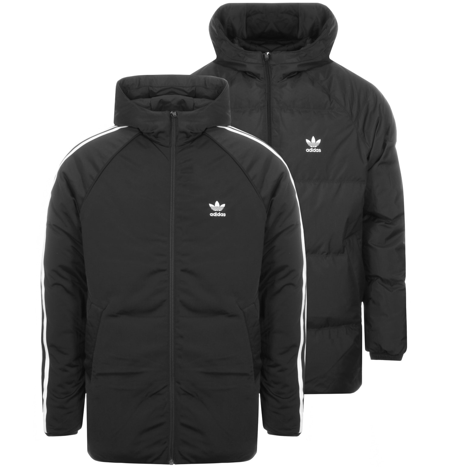 Adidas Originals Reversible Padded Jacket Black Mainline Menswear