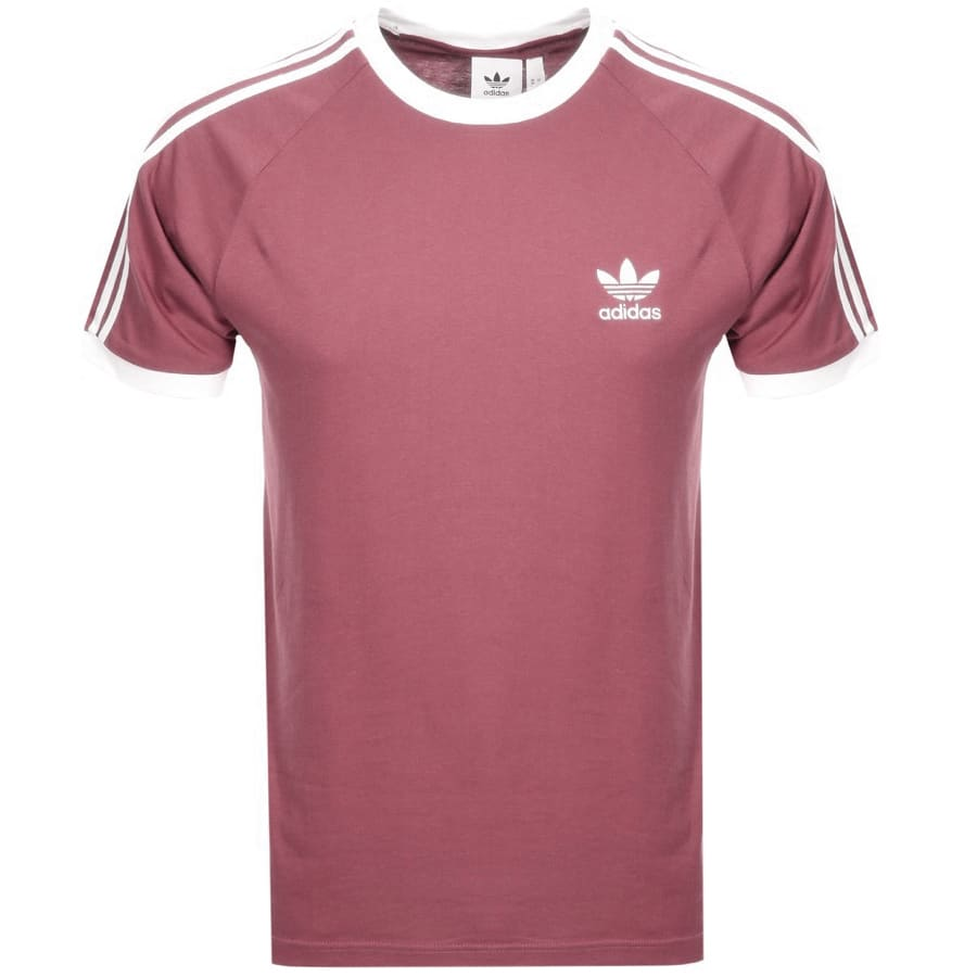 Main Product Image for Adidas Originals California 3 Stripes T Shirt Pink