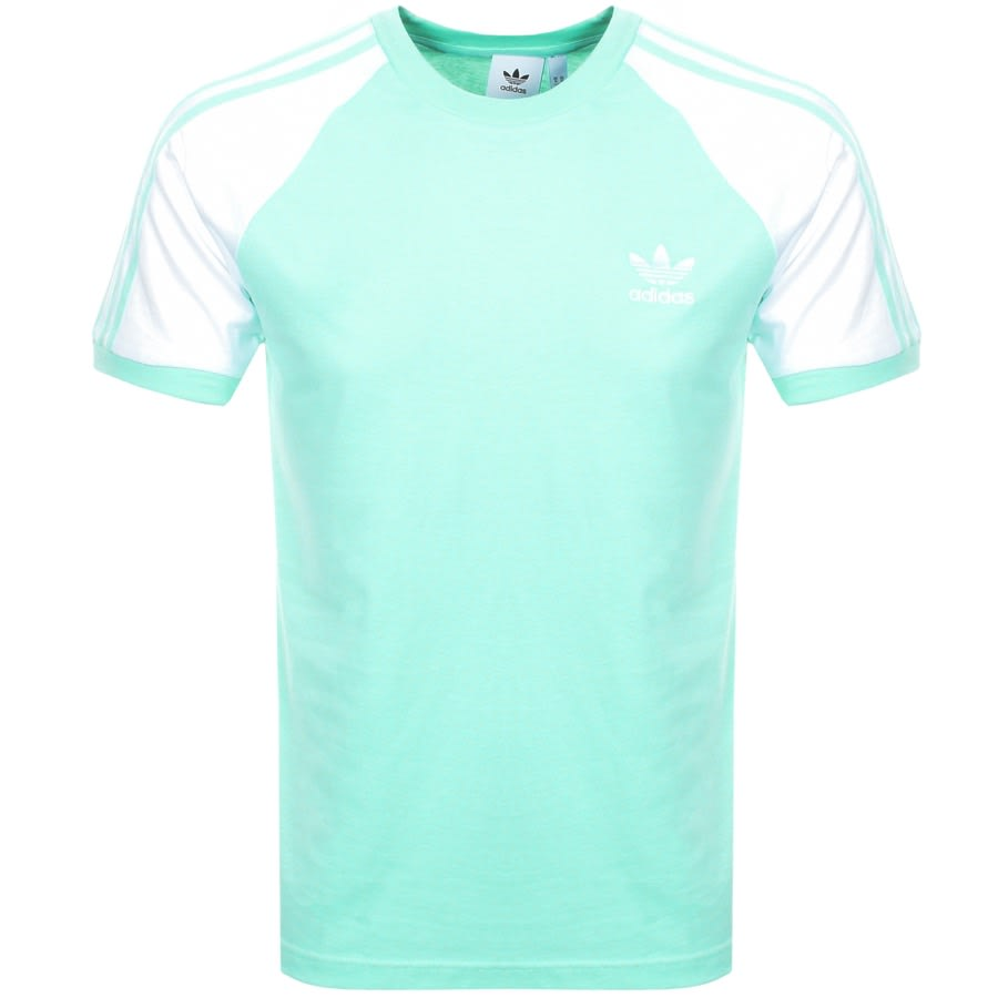 Main Product Image for Adidas Originals California 3 Stripe T Shirt Green