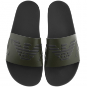 Emporio Armani Logo Sliders Green