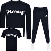 Money Three Pack Tracksuit Black