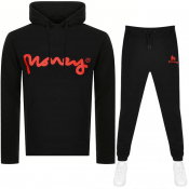 Money Sig Ape Logo Tracksuit Black