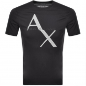 Armani Exchange Crew Neck Logo T Shirt Grey