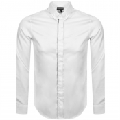 Emporio Armani Regular Fit Long Sleeved Shirt Whit