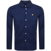 Lyle And Scott Slim Fit Long Sleeve Shirt Navy