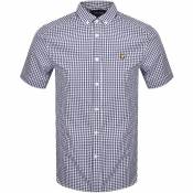 Lyle And Scott Short Sleeve Gingham Shirt Navy