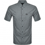 Fred Perry Gingham Short Sleeved Shirt Blue