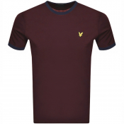 Lyle And Scott Crew Neck T Shirt Burgundy