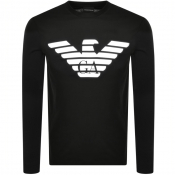 Emporio Armani Long Sleeve T Shirt Black